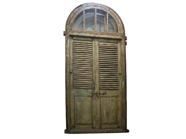 Half Moon Top Wooden Door