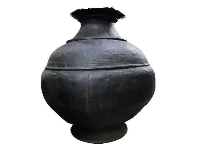 Vintage Black Brass Pot