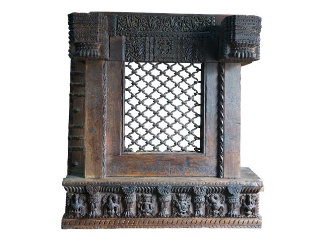 Wooden Window Wall Panel