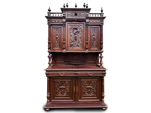 Unique Carved Cabinet