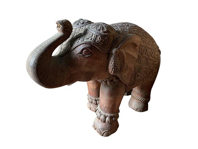 Vintage Hand Carved Elephant