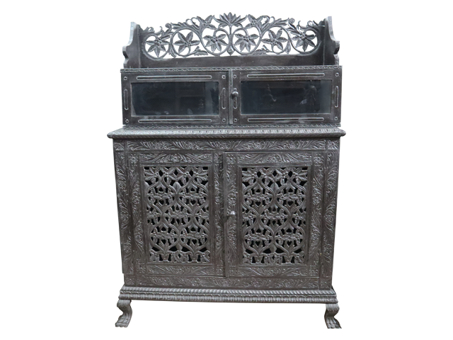 Carved Colonial Cabinet