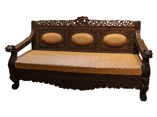 Hand Carved Colonial Sofa