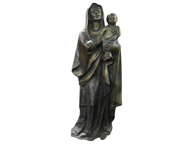 Antique Saint Mother Mary Bust