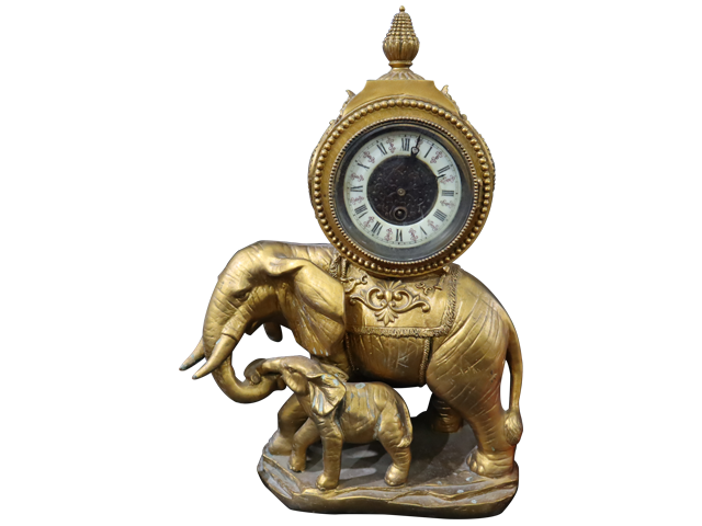 Elephant Showpiece with Watch